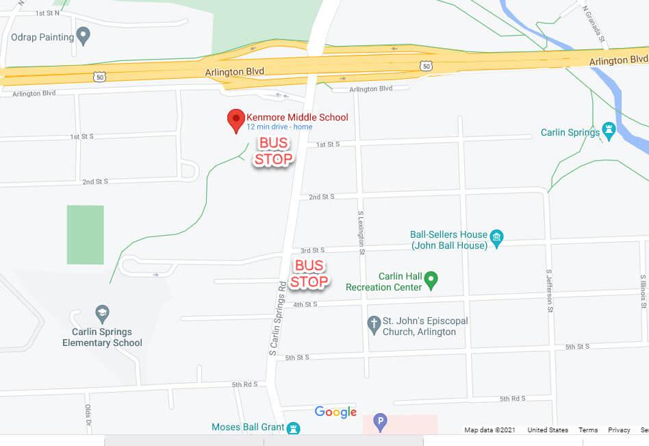 Google map Kenmore